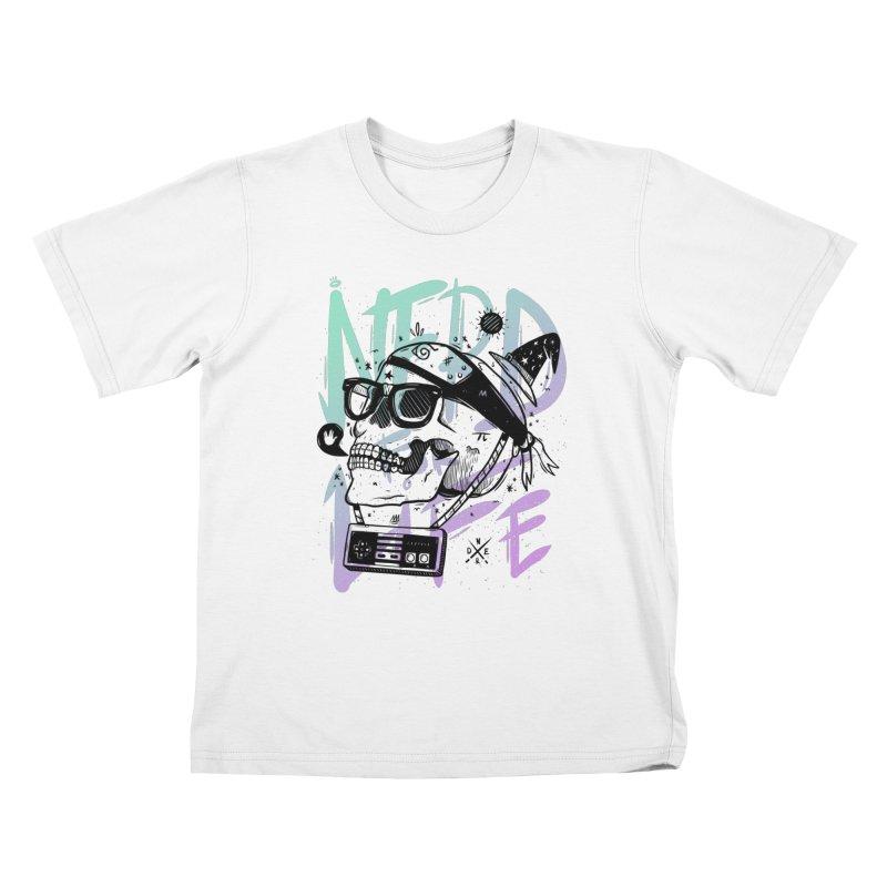 Nerd For Life Kids T-Shirt by effect14's Artist Shop