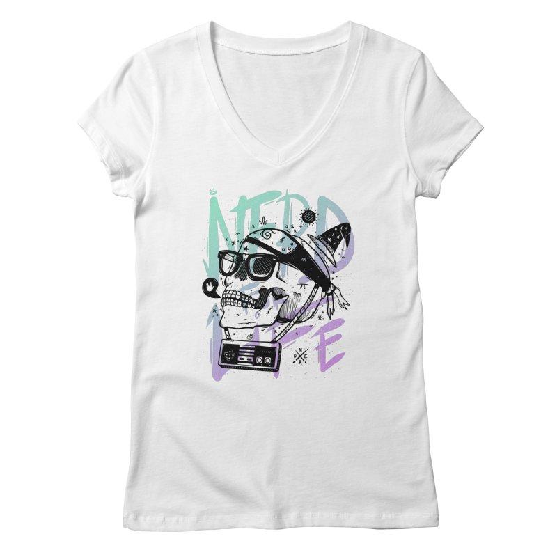 Nerd For Life Women's V-Neck by effect14's Artist Shop