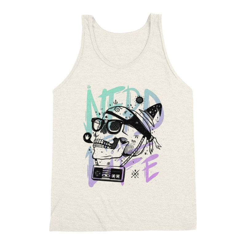 Nerd For Life Men's Triblend Tank by effect14's Artist Shop