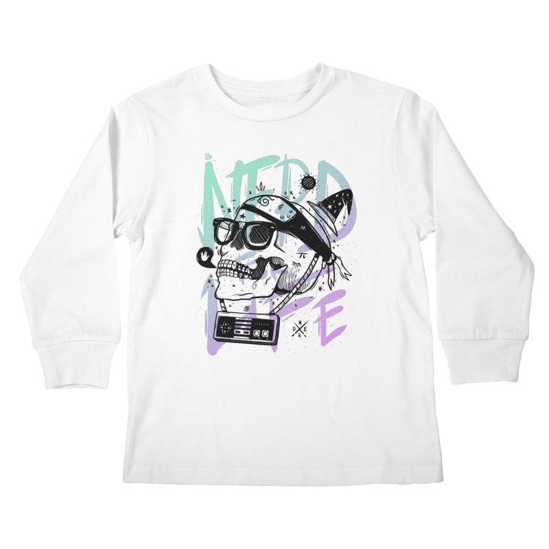 Nerd For Life Kids Longsleeve T-Shirt by effect14's Artist Shop