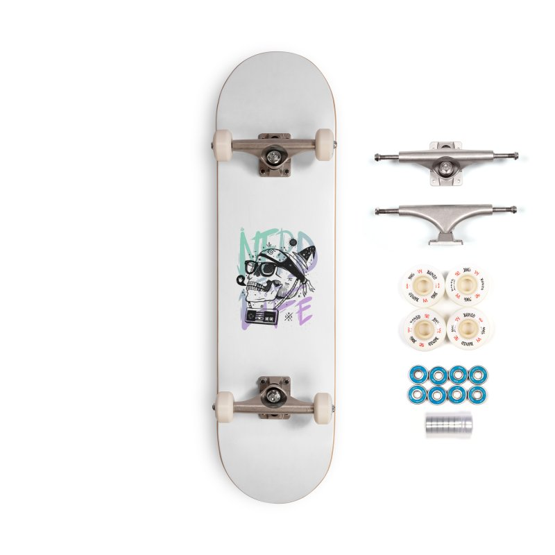 Nerd For Life Accessories Complete - Premium Skateboard by effect14's Artist Shop