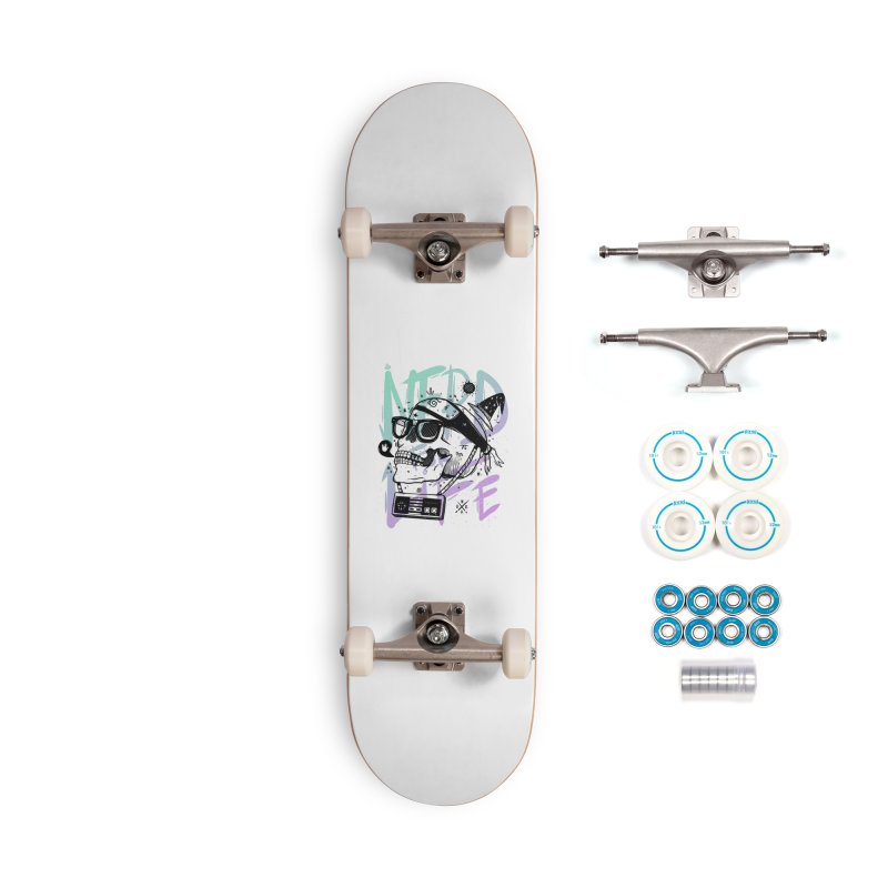 Nerd For Life Accessories Complete - Basic Skateboard by effect14's Artist Shop