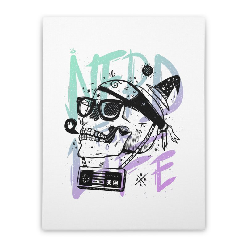Nerd For Life Home Stretched Canvas by effect14's Artist Shop