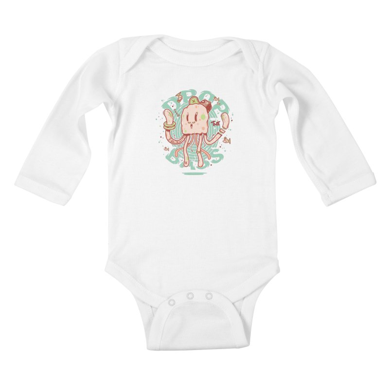 Drop The Bass Kids Baby Longsleeve Bodysuit by effect14's Artist Shop