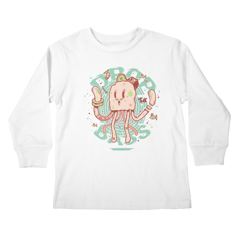 Drop The Bass Kids Longsleeve T-Shirt by effect14's Artist Shop