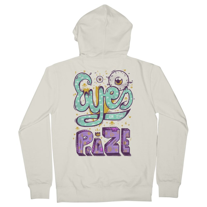 Eyes On The Prize Men's French Terry Zip-Up Hoody by effect14's Artist Shop