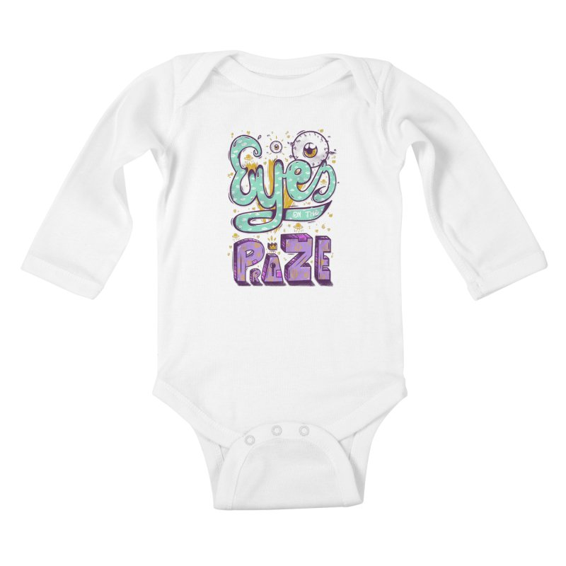Eyes On The Prize Kids Baby Longsleeve Bodysuit by effect14's Artist Shop