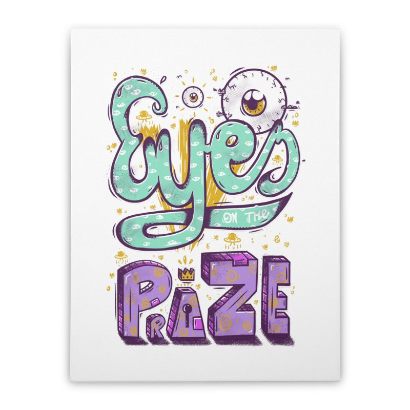 Eyes On The Prize Home Stretched Canvas by effect14's Artist Shop