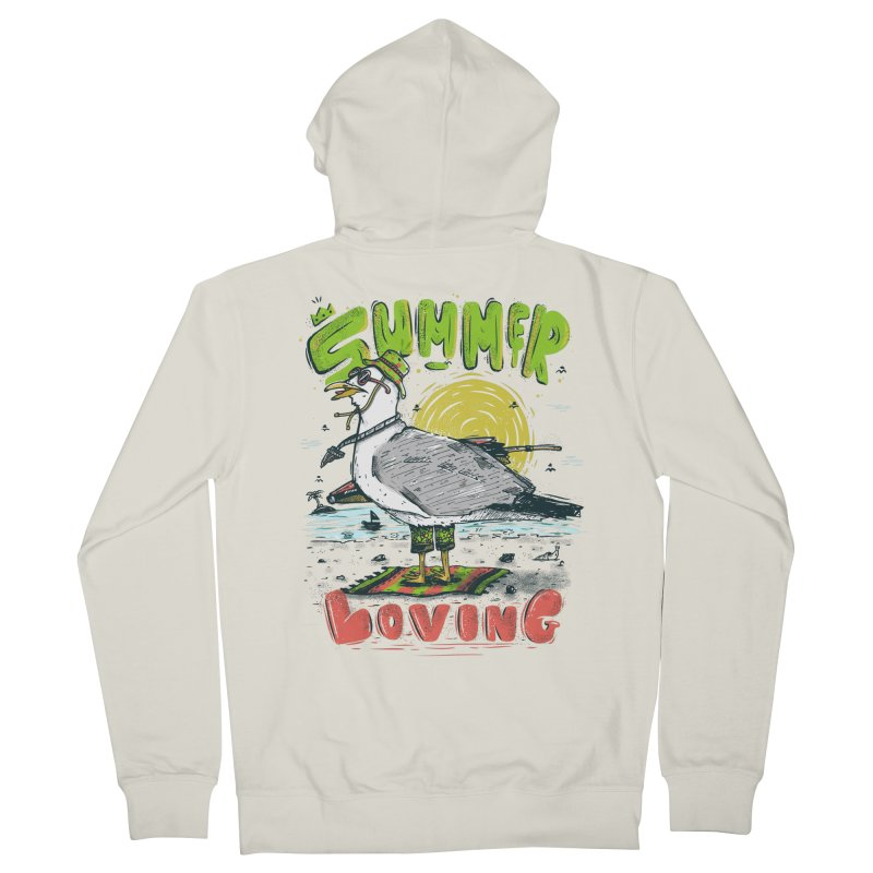 Summer Loving Men's French Terry Zip-Up Hoody by effect14's Artist Shop