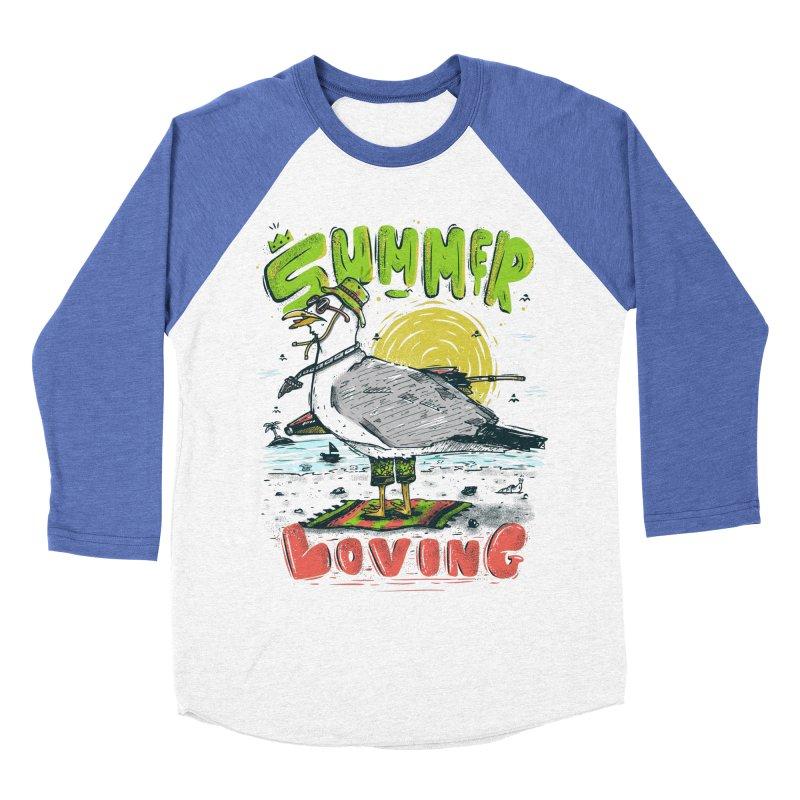 Summer Loving Men's Baseball Triblend T-Shirt by effect14's Artist Shop