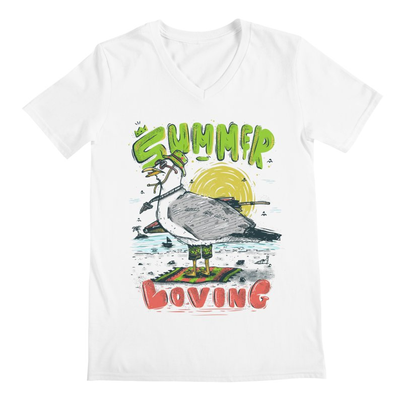 Summer Loving Men's V-Neck by effect14's Artist Shop