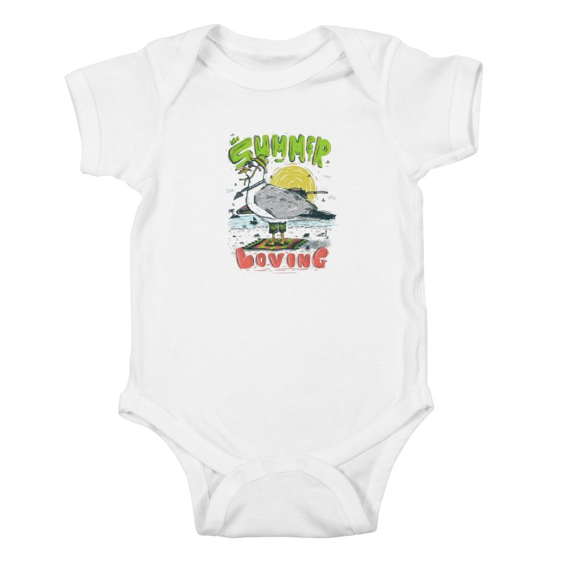 Summer Loving Kids Baby Bodysuit by effect14's Artist Shop