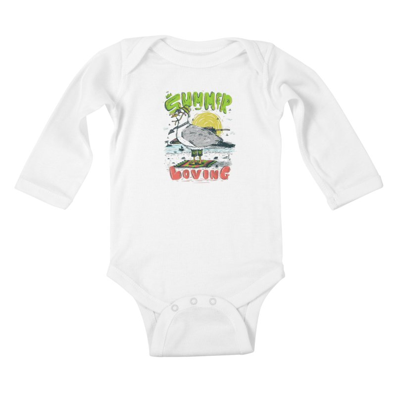 Summer Loving Kids Baby Longsleeve Bodysuit by effect14's Artist Shop