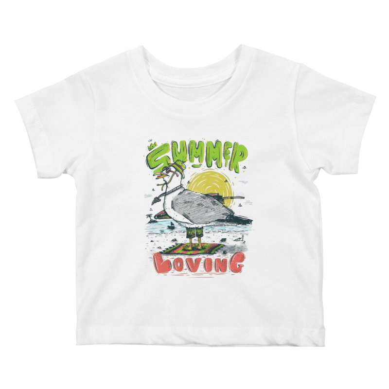 Summer Loving Kids Baby T-Shirt by effect14's Artist Shop