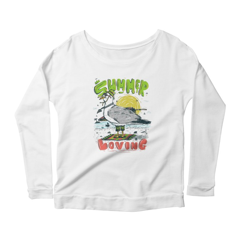 Summer Loving Women's Longsleeve Scoopneck  by effect14's Artist Shop