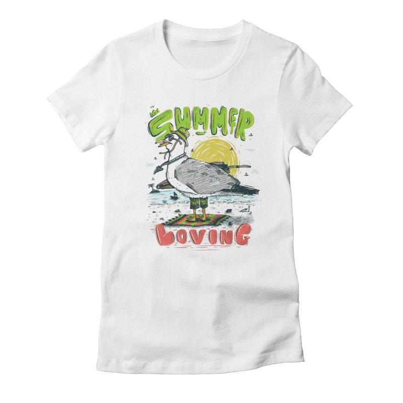 Summer Loving Women's Fitted T-Shirt by effect14's Artist Shop
