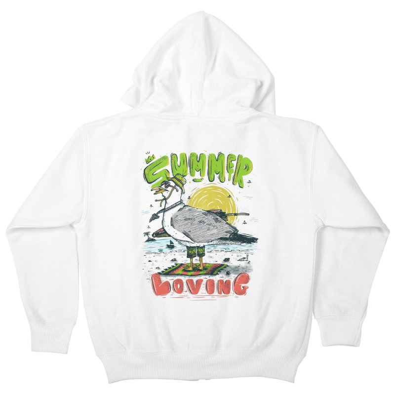 Summer Loving Kids Zip-Up Hoody by effect14's Artist Shop