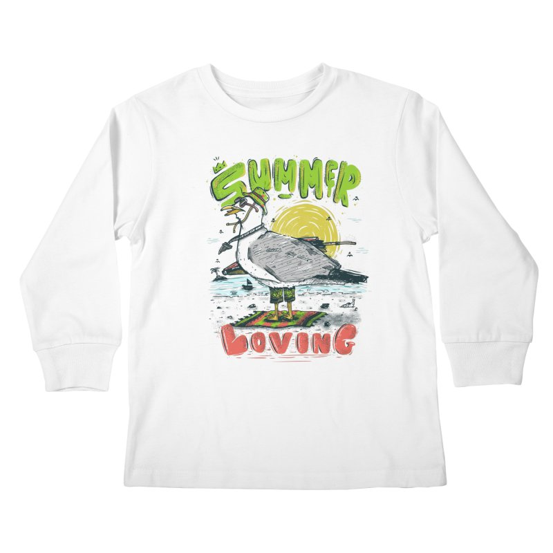 Summer Loving Kids Longsleeve T-Shirt by effect14's Artist Shop