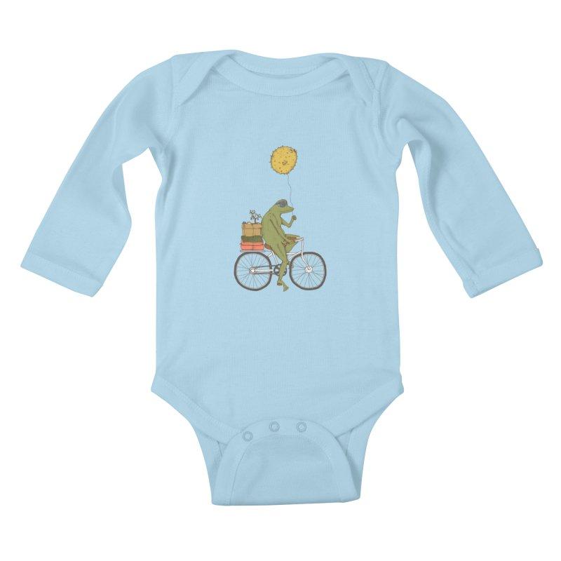 Promenade Kids Baby Longsleeve Bodysuit by Eggplantation's Artist Shop