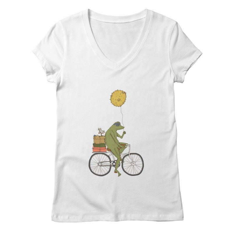Promenade Women's V-Neck by Eggplantation's Artist Shop