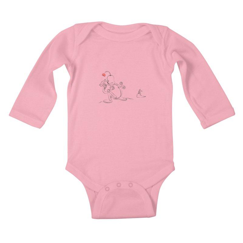 Kiss me Kids Baby Longsleeve Bodysuit by Eggplantation's Artist Shop