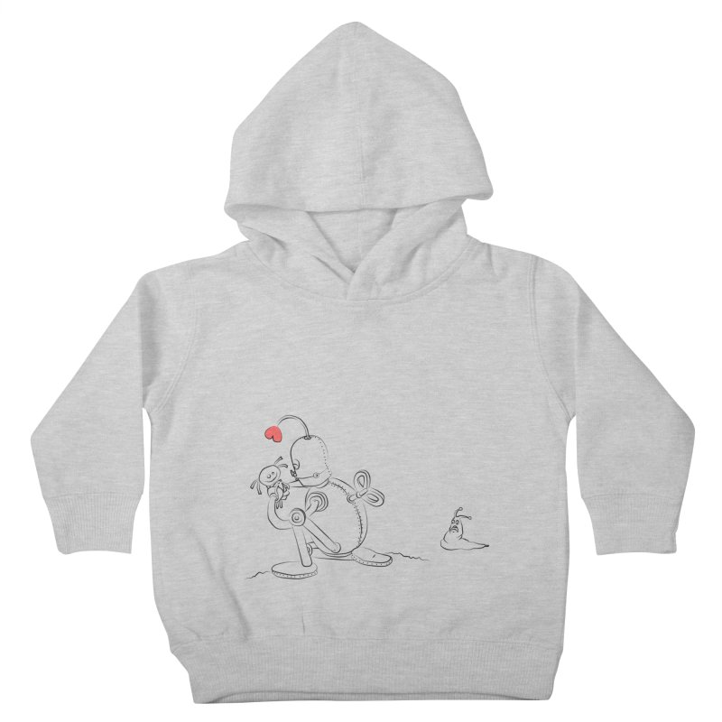 Kiss me Kids Toddler Pullover Hoody by Eggplantation's Artist Shop