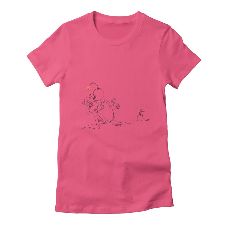 Kiss me Women's Fitted T-Shirt by Eggplantation's Artist Shop
