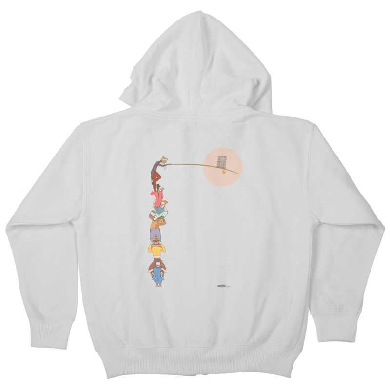 Tall News Kids Zip-Up Hoody by Eggplantation's Artist Shop
