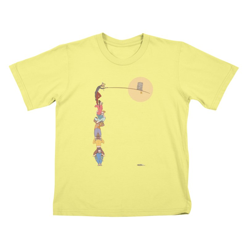 Tall News Kids T-shirt by Eggplantation's Artist Shop