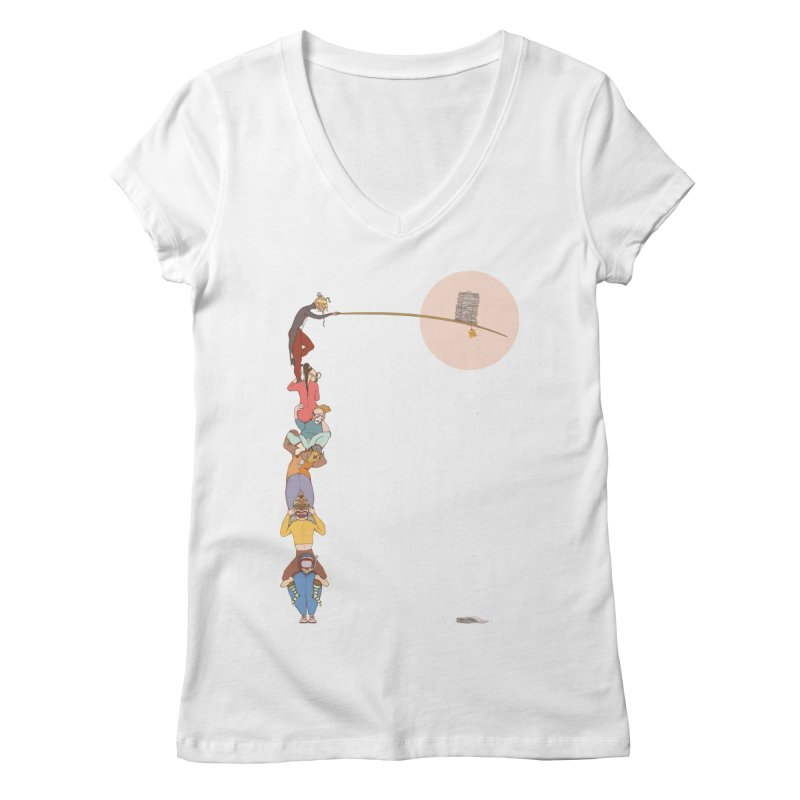 Tall News Women's V-Neck by Eggplantation's Artist Shop