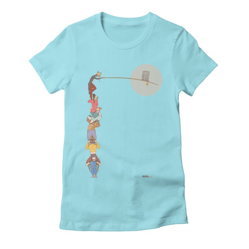 Tall News Women's Fitted T-Shirt by Eggplantation's Artist Shop