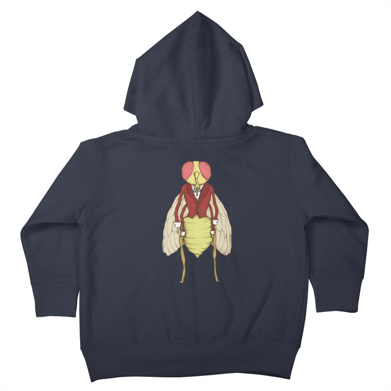 The Fly in Suit Kids Toddler Zip-Up Hoody by Eggplantation's Artist Shop