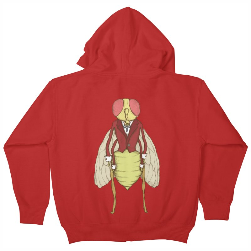 The Fly in Suit Kids Zip-Up Hoody by Eggplantation's Artist Shop
