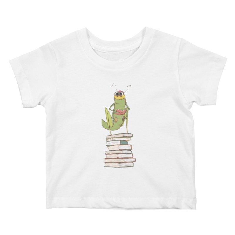 Intellectual Grasshopper Kids Baby T-Shirt by Eggplantation's Artist Shop