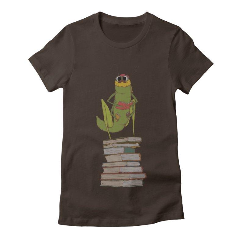 Intellectual Grasshopper Women's Fitted T-Shirt by Eggplantation's Artist Shop