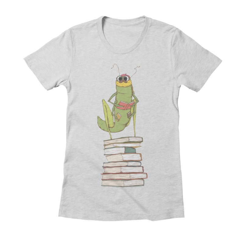 Intellectual Grasshopper Women's Fitted T-Shirt by Eggplantation's Artist Shop