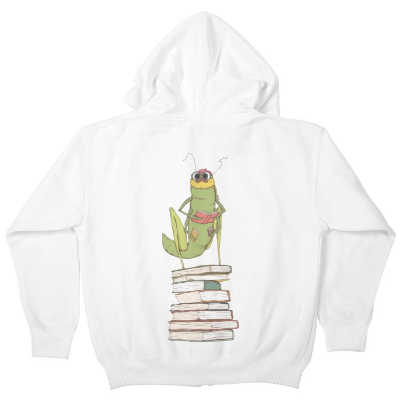 Intellectual Grasshopper Kids Zip-Up Hoody by Eggplantation's Artist Shop
