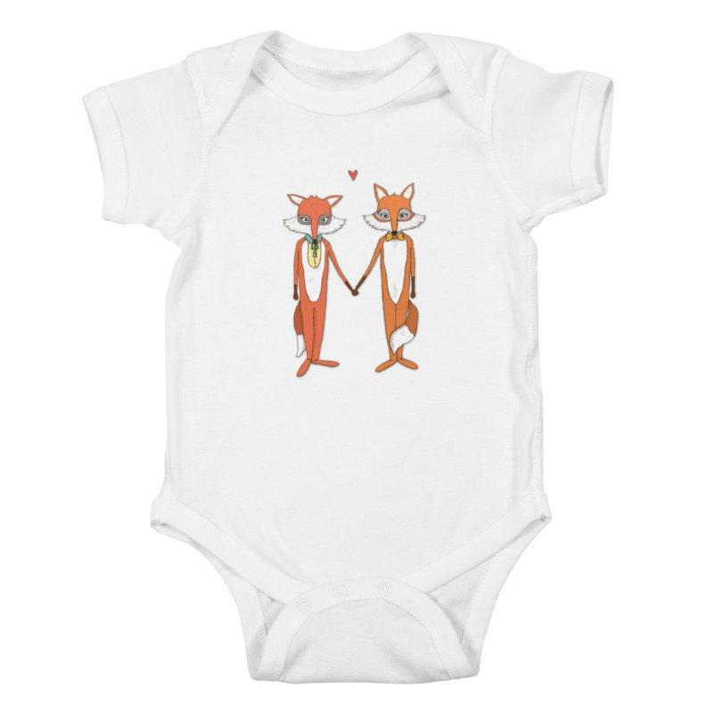 Fox  Kids Baby Bodysuit by Eggplantation's Artist Shop