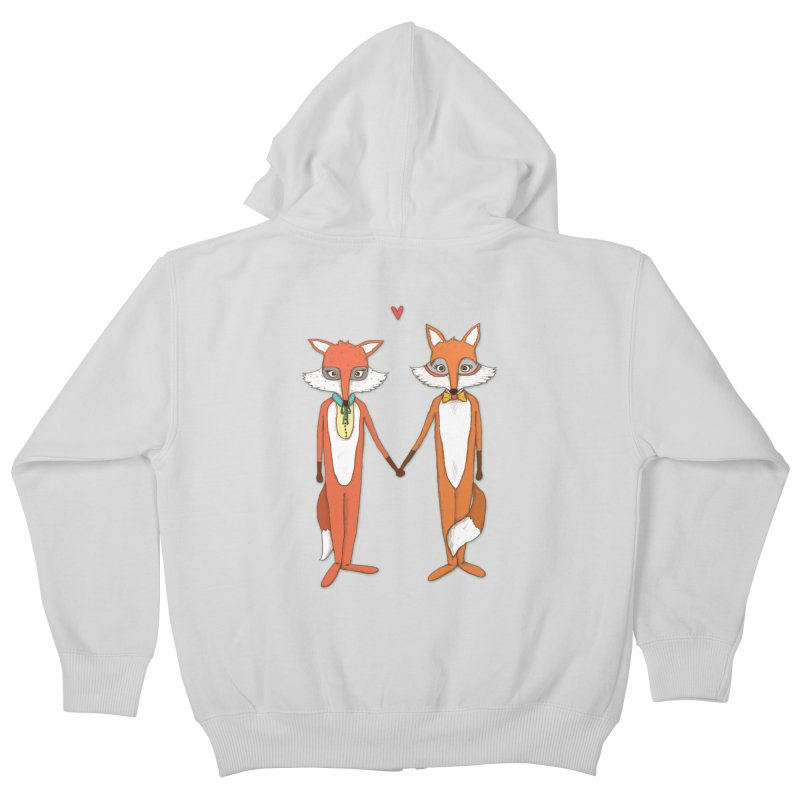 Fox  Kids Zip-Up Hoody by Eggplantation's Artist Shop