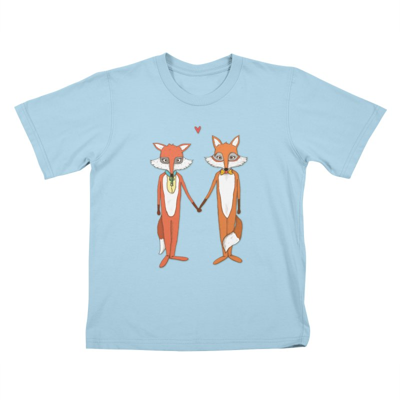 Fox  Kids T-Shirt by Eggplantation's Artist Shop