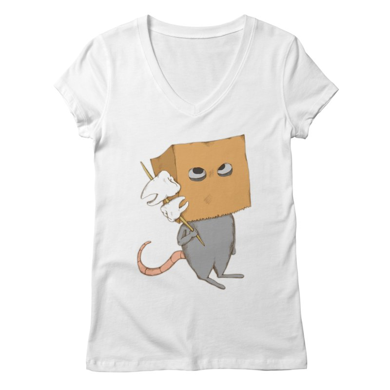 Mr. Toothpick Women's V-Neck by Eggplantation's Artist Shop