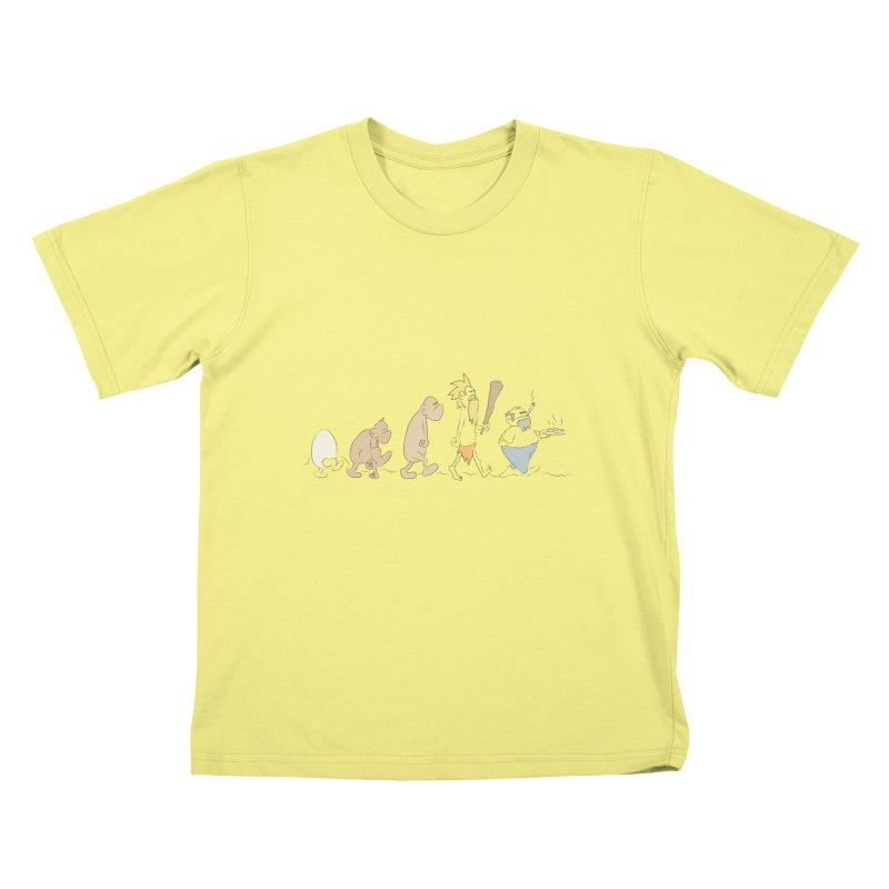Eggvolution Kids T-shirt by Eggplantation's Artist Shop