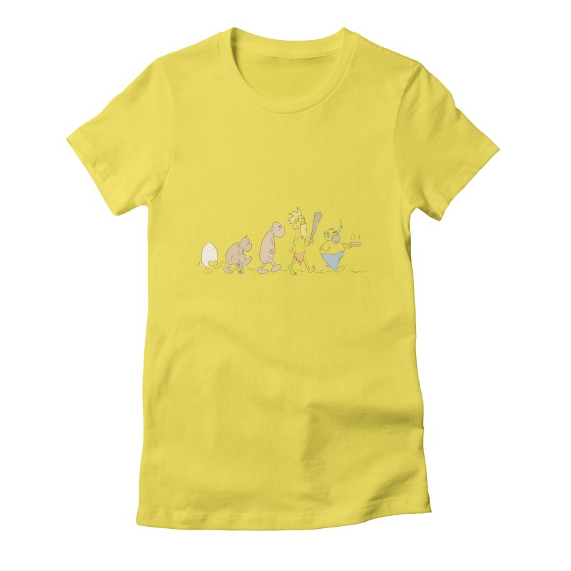 Eggvolution Women's Fitted T-Shirt by Eggplantation's Artist Shop