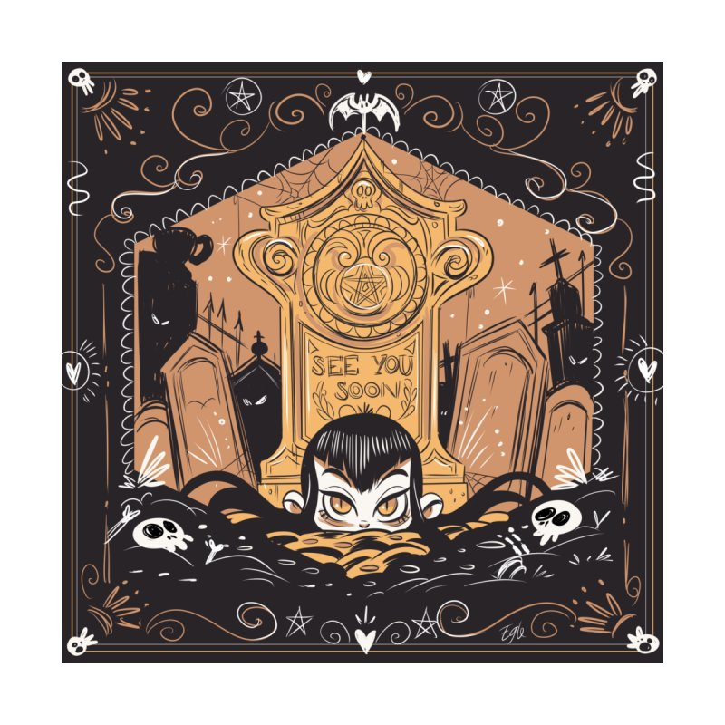 Occult Tombstone Men's T-Shirt by eglebartolini's Artist Shop