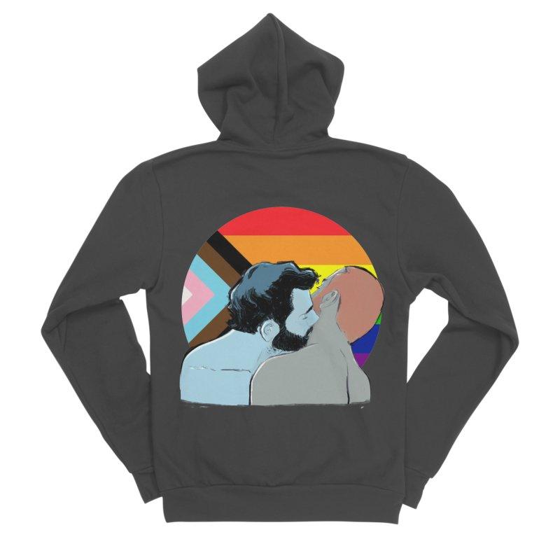 Love Pride Men's Sponge Fleece Zip-Up Hoody by Ego Rodriguez