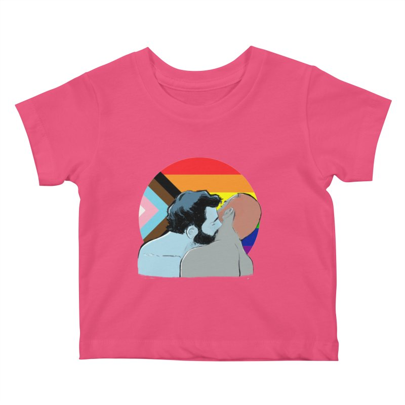 Love Pride Kids Baby T-Shirt by Ego Rodriguez