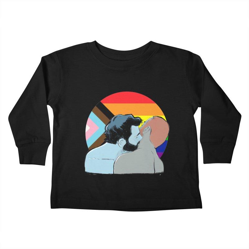 Love Pride Kids Toddler Longsleeve T-Shirt by Ego Rodriguez