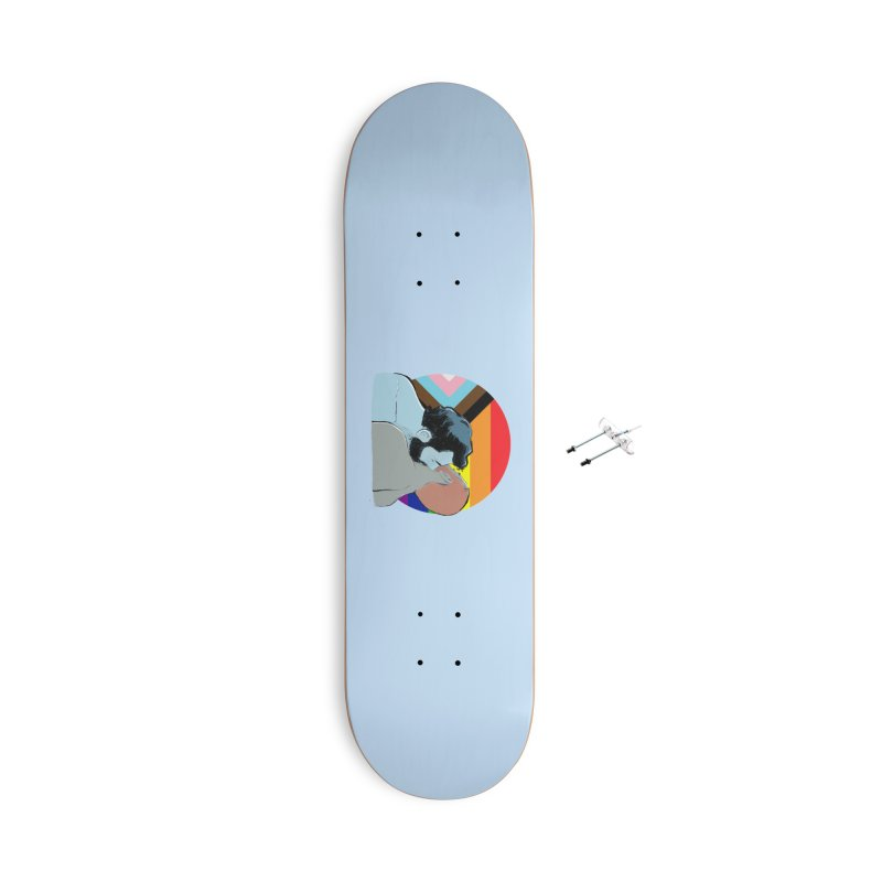 Love Pride Accessories With Hanging Hardware Skateboard by Ego Rodriguez