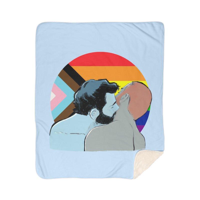 Love Pride Home Sherpa Blanket Blanket by Ego Rodriguez
