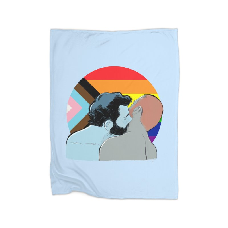 Love Pride Home Fleece Blanket Blanket by Ego Rodriguez
